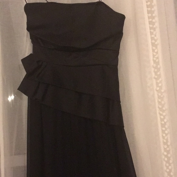Max & Cleo Dresses | Max And Cleo Black Floor Length Gown Worn Once ...